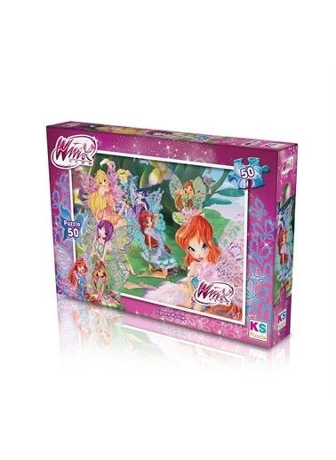 KS Puzzle KS Puzzle WINX709 Winx Temalı 50 ParÇa Çocuk Puzzle Renkli